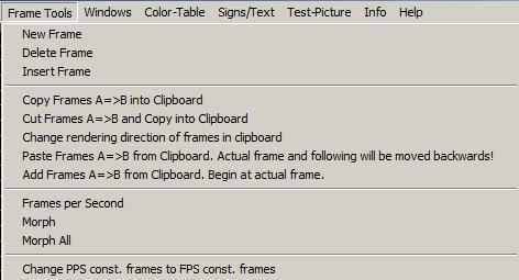 Fig.66 menu frame tools