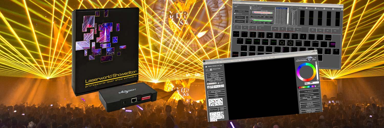 Laserworld Showeditor 2015 Set - Laser Show Software incl  ShowNET LAN  Interface